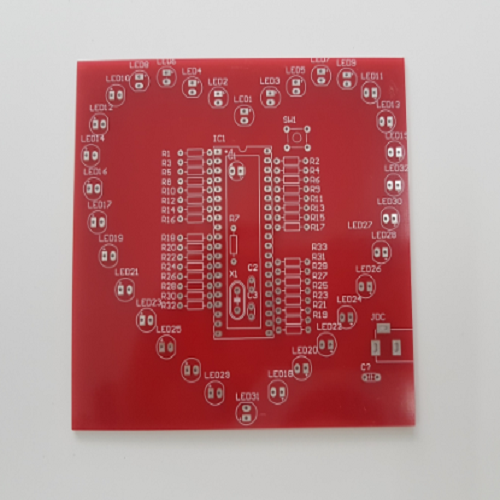 PCB Trái tim 32 LED