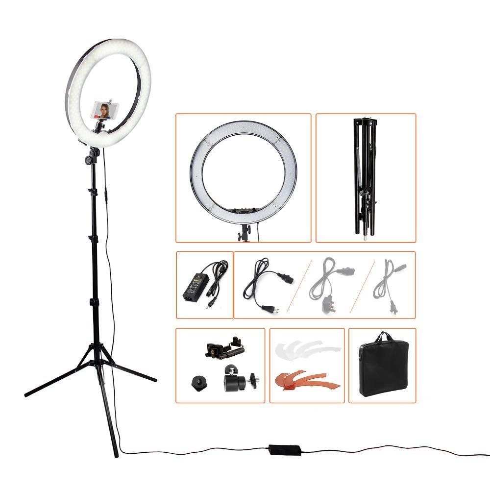 Bộ đèn hỗ trợ live stream đa năng size 26cm sáng | Vinakara.com
