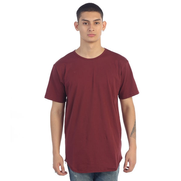 EPTM| Side Zipper OG Long Tee / Burgundy