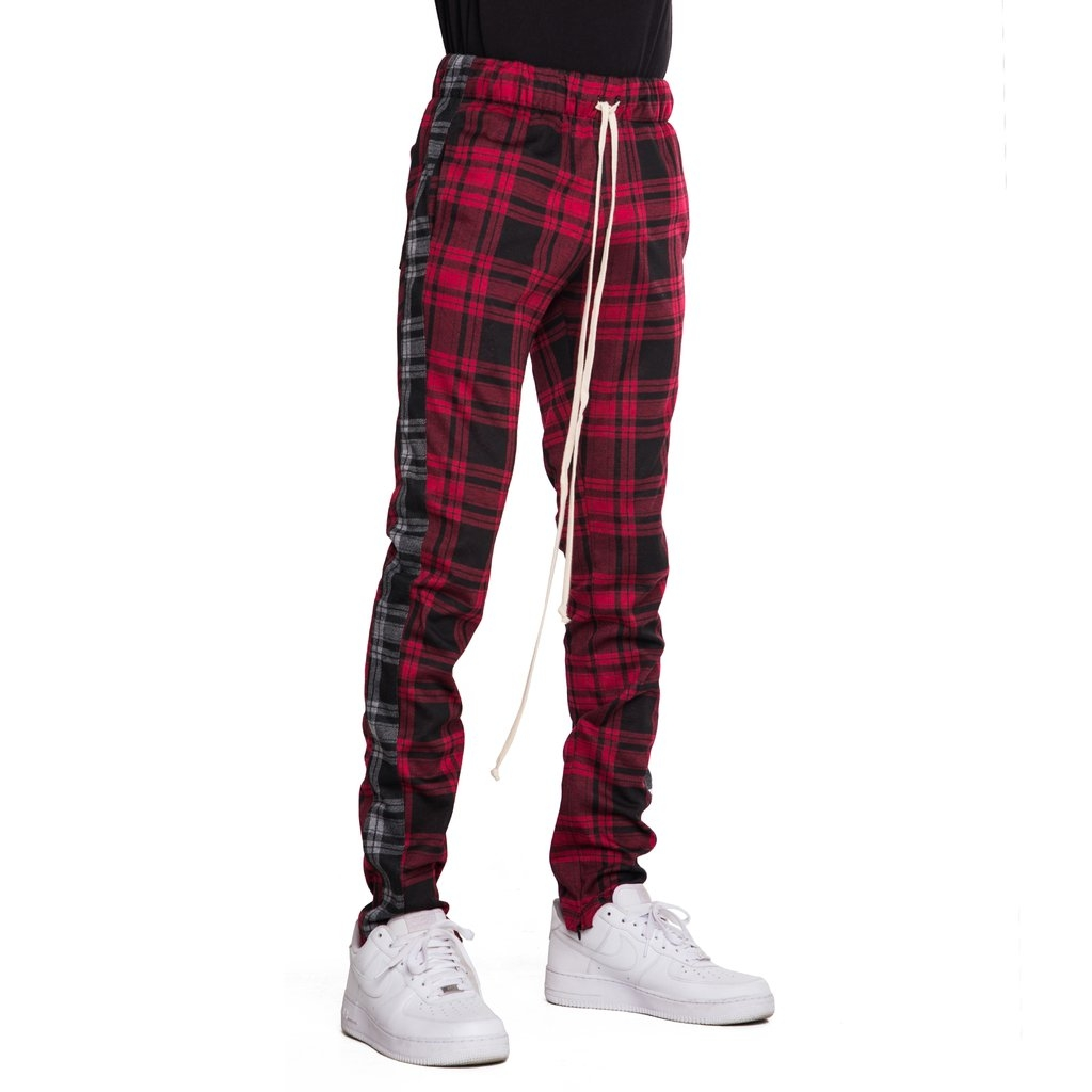 EPTM | Plaid Track Pants / Red Black Plaid