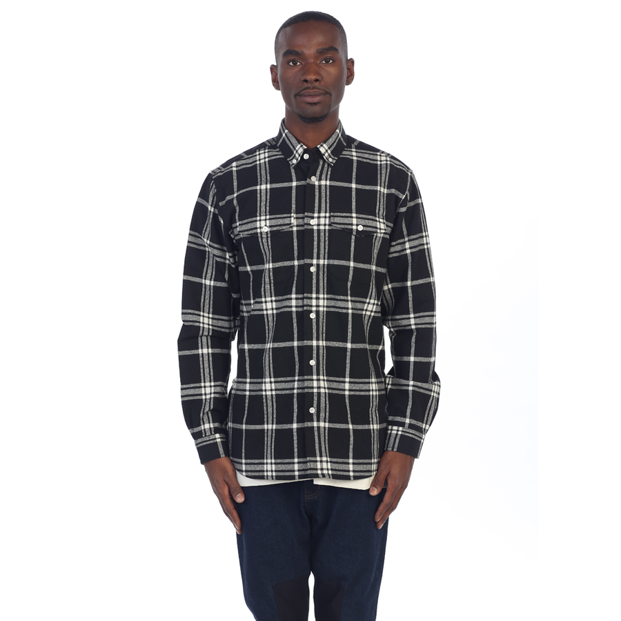 EPTM| Side Zip Flannel / Black