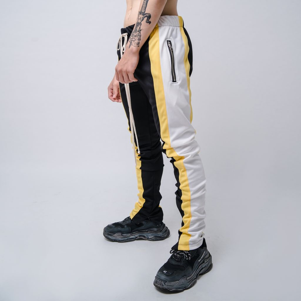 EPTM | Color Block Track Pants / Black Yellow Offwhite