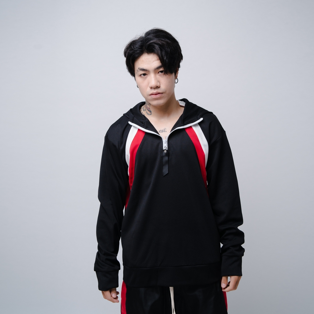 EPTM | Double Stripe Pullover / Black Red White