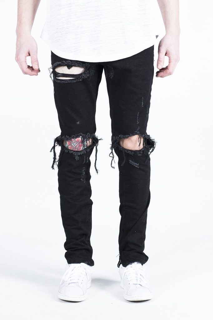 Crysp Denim | Pacific (black ripped)