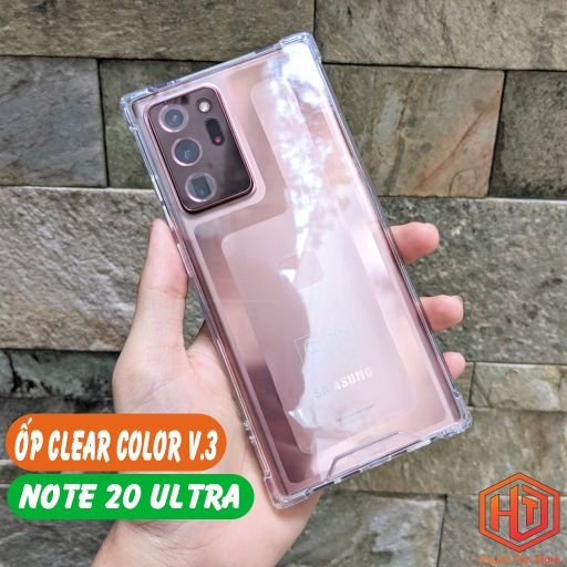Ốp lưng Samsung Note 20 Ultra Chống Sốc Clear Color Ver 3