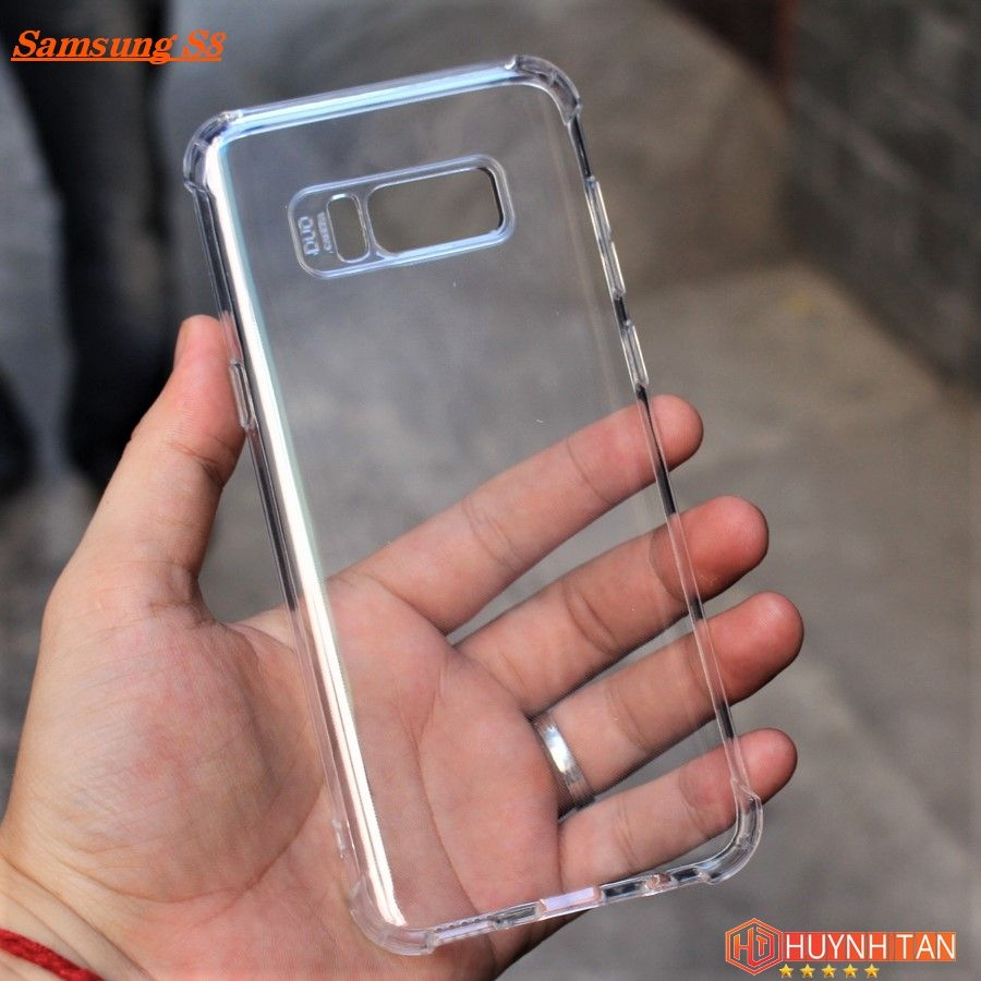 Ốp lưng Samsung S8 Silicon trong suốt chống sốc