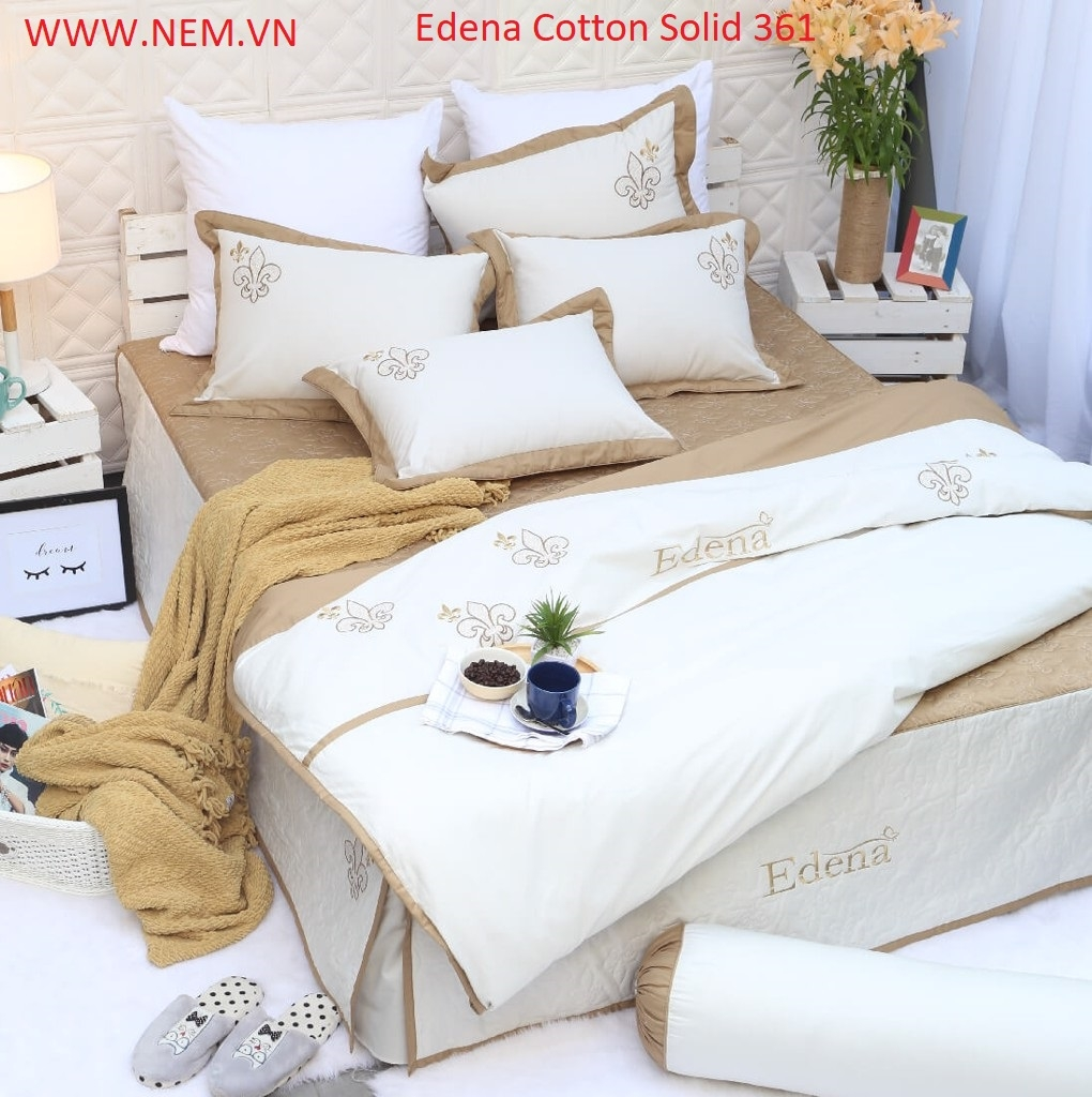 BỘ DRAP EDENA COTTON SOLID 361