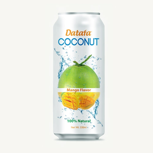 Young Coconut Water with Mango Juice