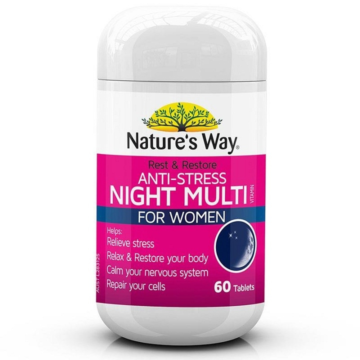 Nature's Way Anti-Stress Night Multivitamin For Women - 60 viên
