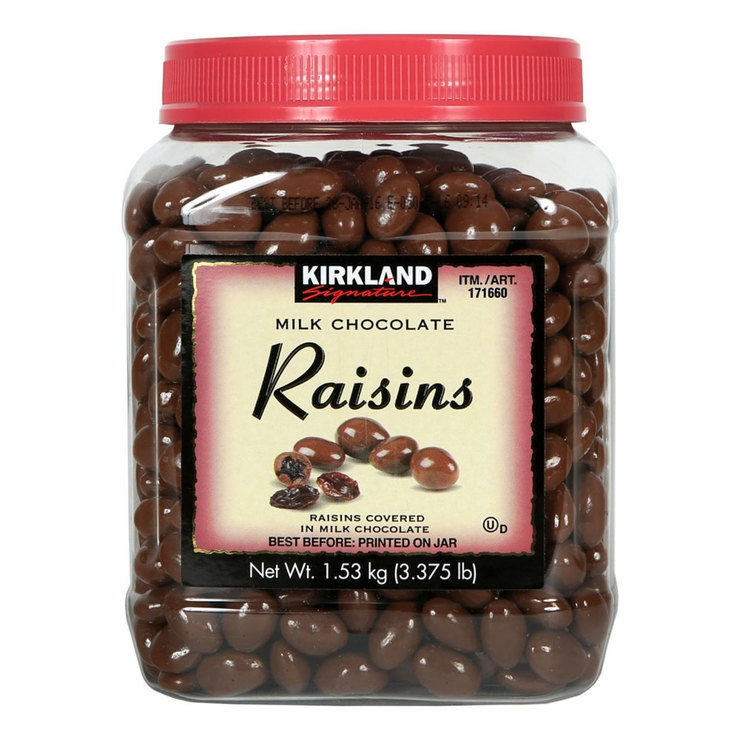 Kẹo Socola Kirkland Signature Milk Chocolate Raisins