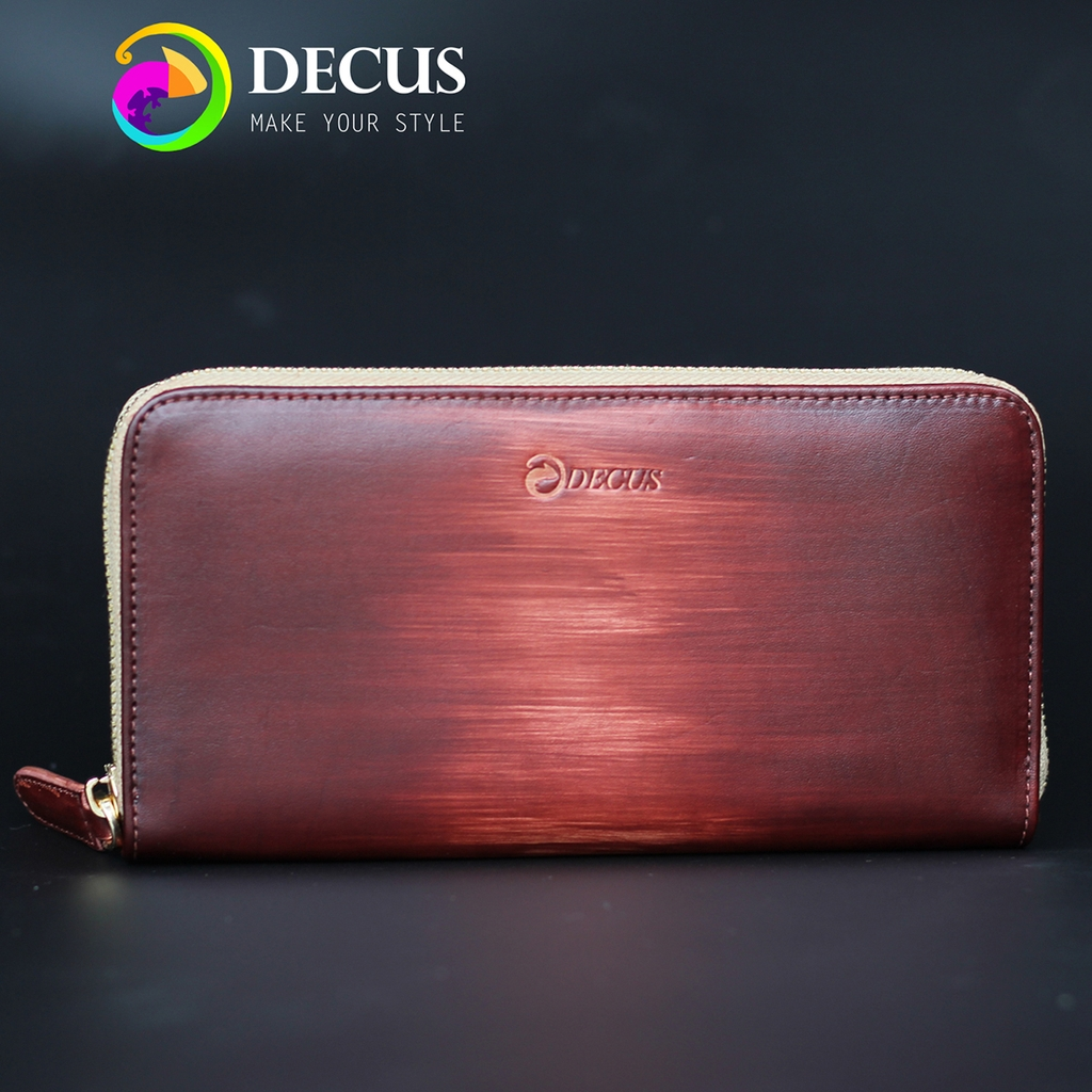 Wallet Patina Yellowish Brown