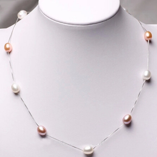 Feminine style of drop Pearl Necklace