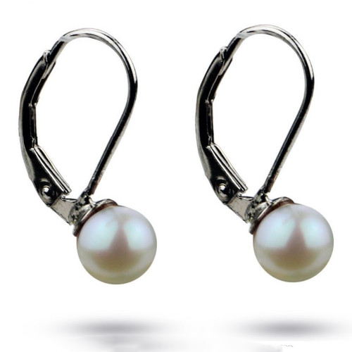 7mm round pearl earrings