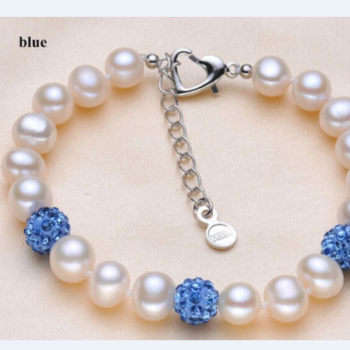 8mm pearl & Cz ball bracelet
