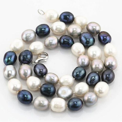 mixted pearl necklace