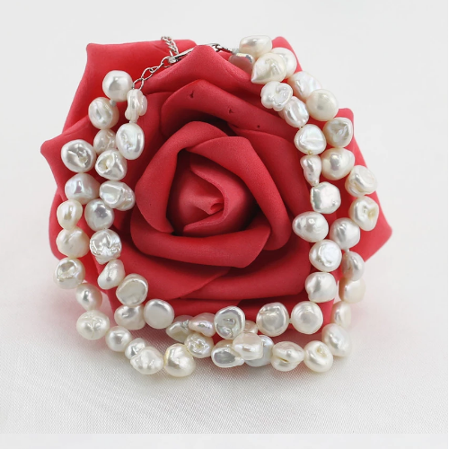 Rice Shaped Pearl Bracelet