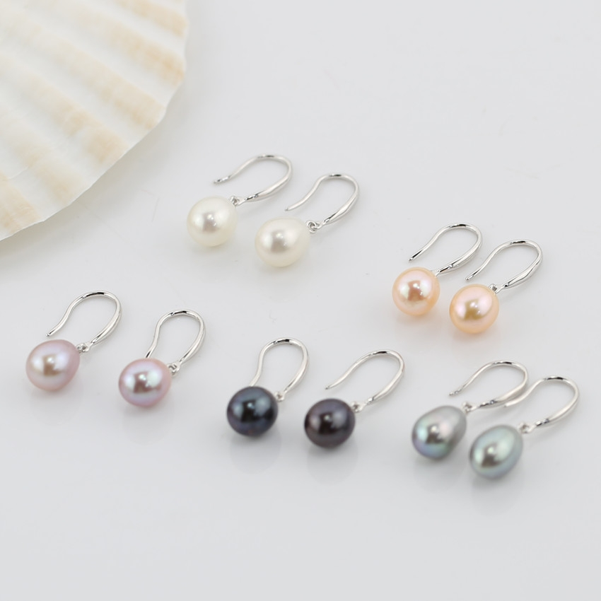 drop freshwater pearl Earrings