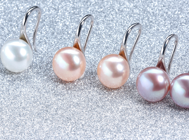 Simple Flat Pearl Earrings