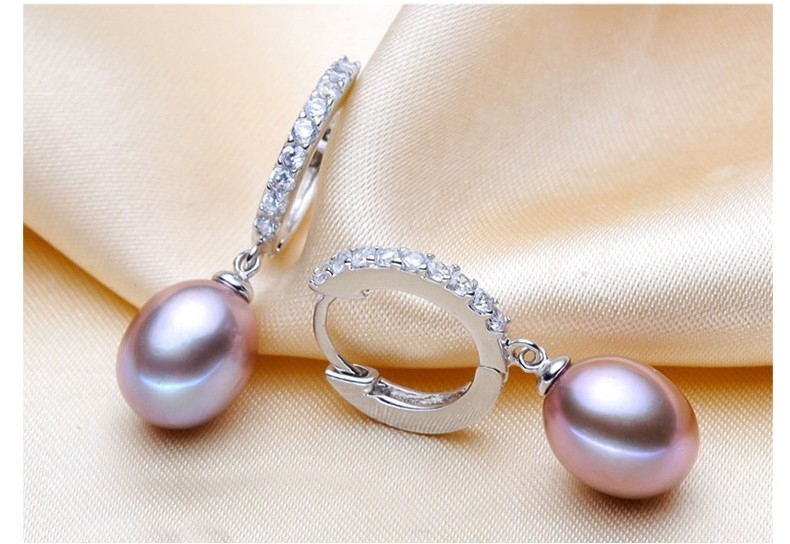 Hoop drop pearl Earrings
