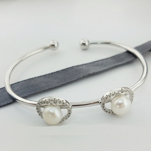 Double Pearl Bangle