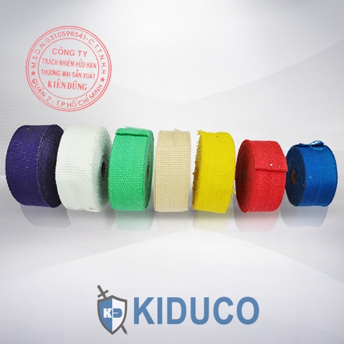 Băng cuộn vải sợi thủy tinh chịu nhiệt Kiduco Fiberglass Tape