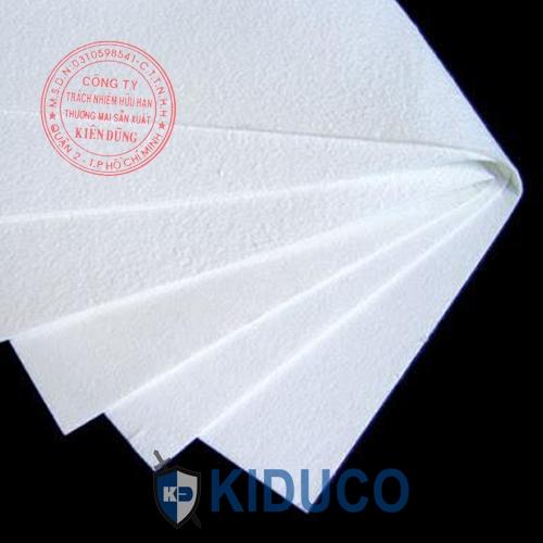 Bông gốm cách nhiệt dạng giấy Kiduco Ceramic Fiber Paper 1