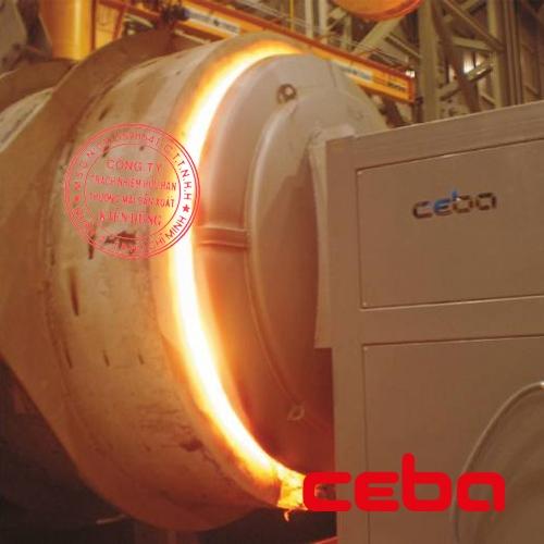 Thiết bị gia nhiệt và sấy khô thùng Ladle rót thép của hãng Ceba