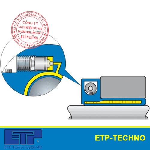 Khớp nối thủy lực ETP-Techno côn đơn nối bích single screw mounting