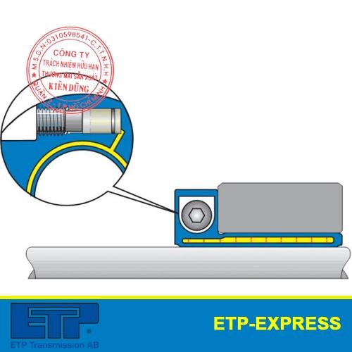 Khớp nối thủy lực ETP-Express côn đơn nối bích single screw mounting