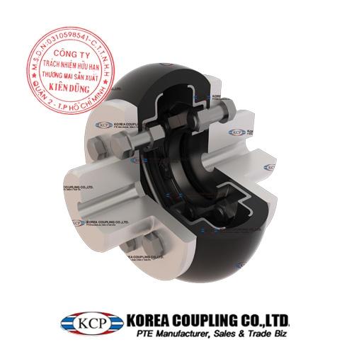 Khớp nối bánh xe cao su KCP Tire Coupling KCS-L Complete