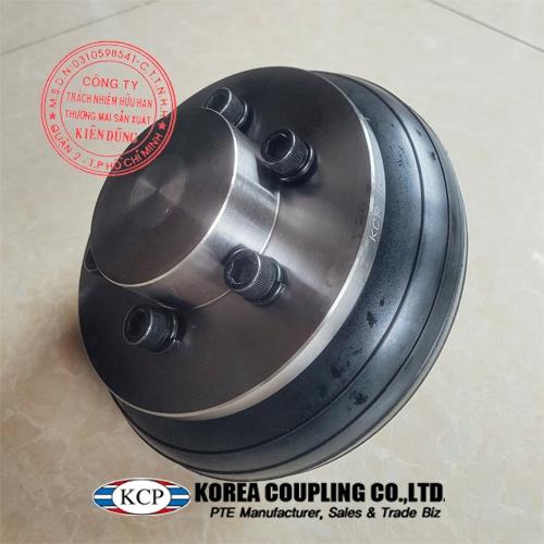 Hình ảnh thực tế khớp nối bánh xe cao su KCP Tire Coupling KCS-P 220 Complete