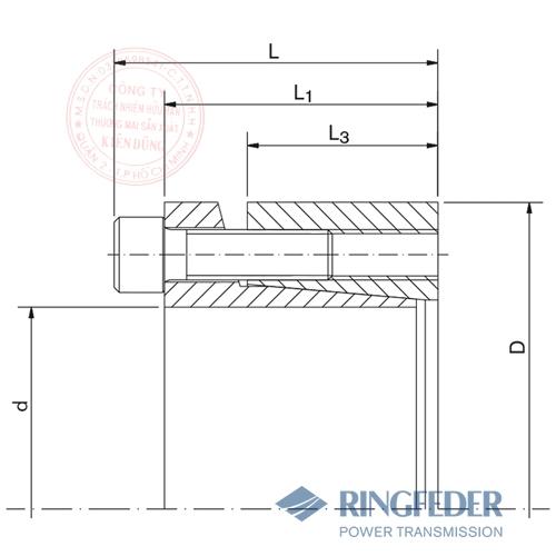 Thiết bị khóa trục côn Ringfeder RfN 7013.0 bản vẽ