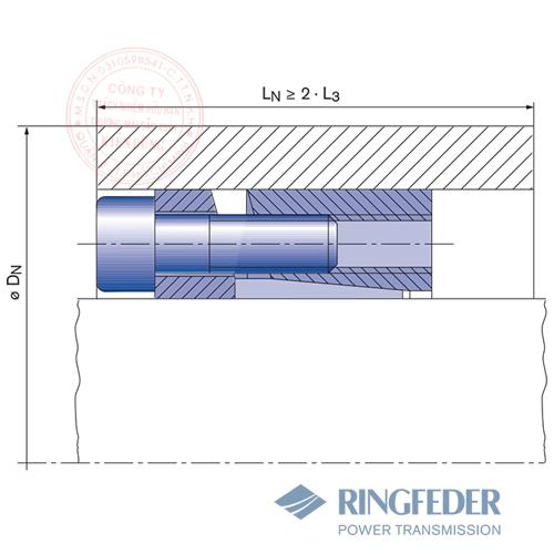 Thiết bị khóa trục côn Ringfeder RfN 7013.0 location