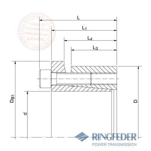 Thiết bị khóa trục côn Ringfeder RfN 7013.1 bản vẽ