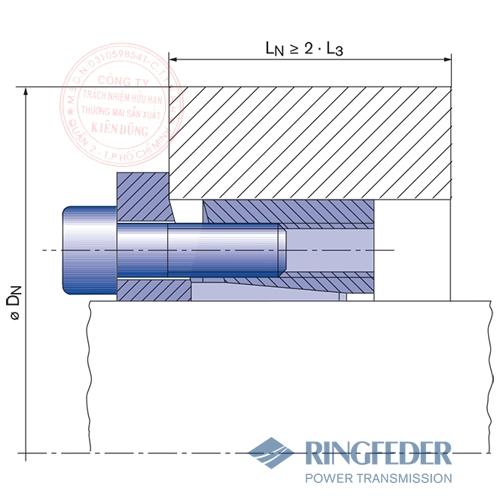 Thiết bị khóa trục côn Ringfeder RfN 7013.1 location