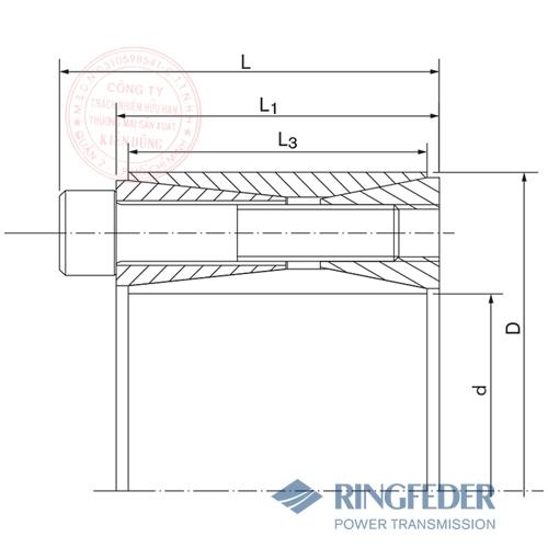 Thiết bị khóa trục côn Ringfeder RfN 7014 bản vẽ