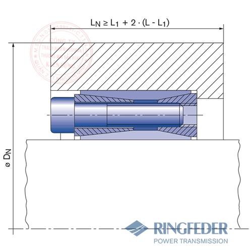 Thiết bị khóa trục côn Ringfeder RfN 7014 location