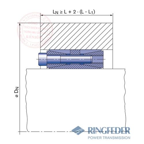 Thiết bị khóa trục côn Ringfeder RfN 7015.0 location