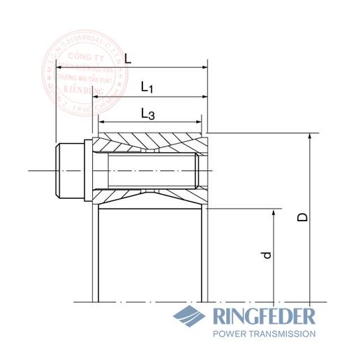 Thiết bị khóa trục côn Ringfeder RfN 7012 bản vẽ