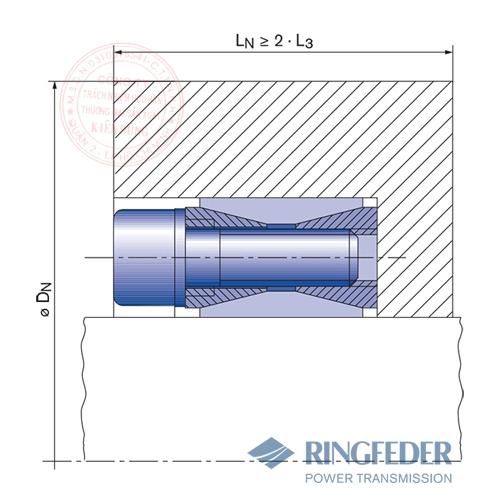 Thiết bị khóa trục côn Ringfeder RfN 7012 location