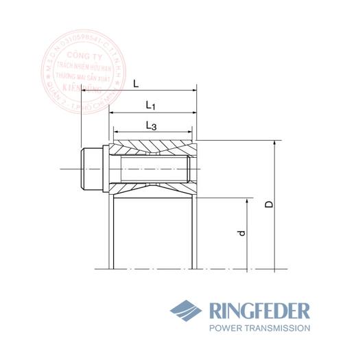 Thiết bị khóa trục côn Ringfeder RfN 7012.2 bản vẽ