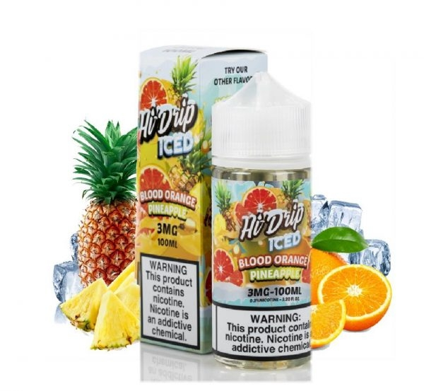 100ml mỹ HI DRIP BLOOD ORANGE PINEAPPLE - Dứa cam đỏ