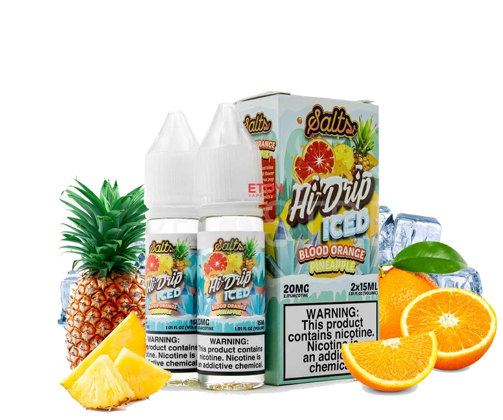 30ml salt mỹ HI DRIP BLOOD ORANGE PINEAPPLE - Dứa cam đỏ