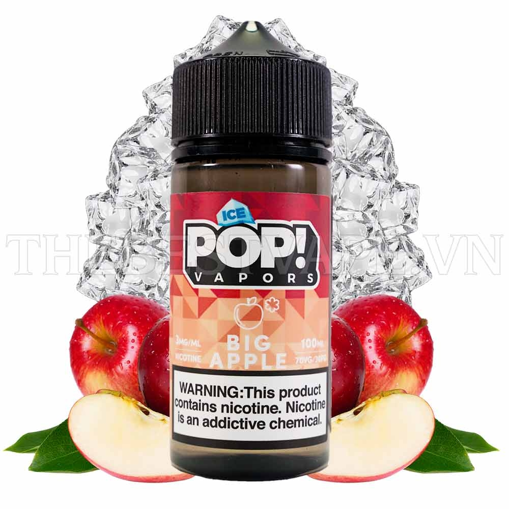 Juice Mỹ ICE POP Big Apple Vị Táo Đỏ 100ml