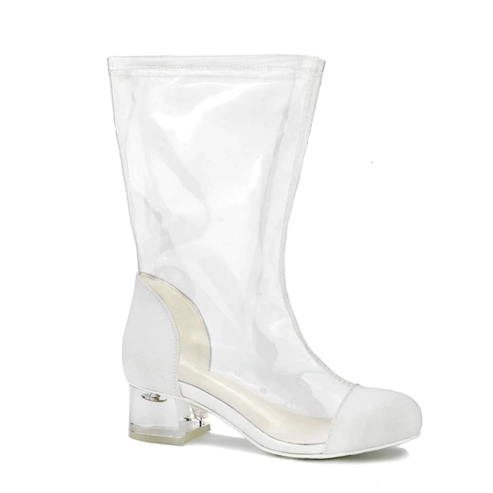 Boots cao cổ trong suốt - Transparent boots