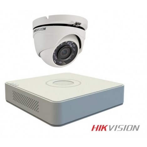 Combo 1 camera 720P HIKVISION DS-2CE16C0T-IR + DVR 4CH DS-7104HQHI-K1, 1 adaptor