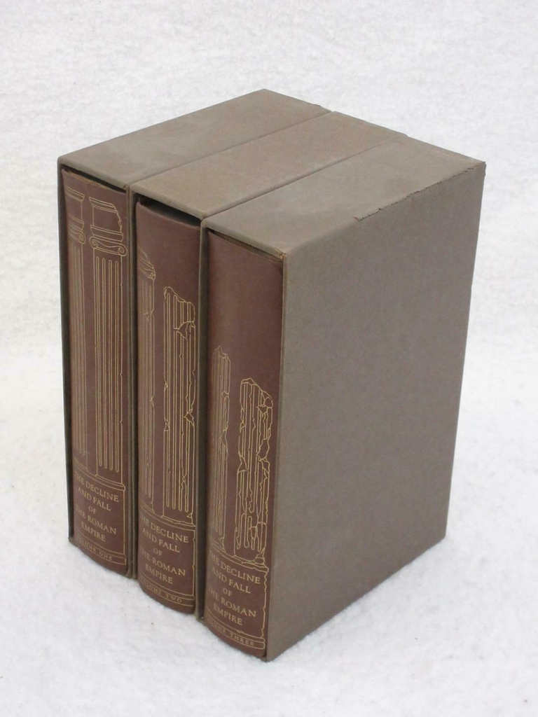 The History of the Decline and Fall of the Roman Empire, Heritage Press Three Volume Set in Slipcases by Edward Gibbon
