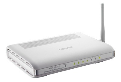 ASUS 54Mbits wireless router DSL-G31