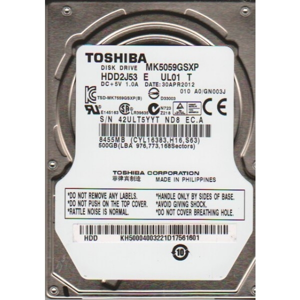 Ổ cứng GT Tosiba 500GB