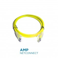 PatchCord Commscope/AMP 1-1859243-0 Cat5e SL, Yellow, 10 Ft
